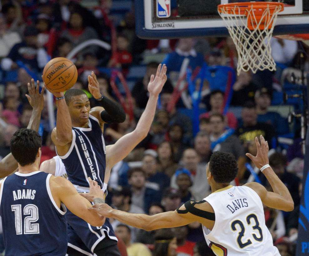 Pelicans look to make corrections against Russell Westbrook, Thunder _lowres