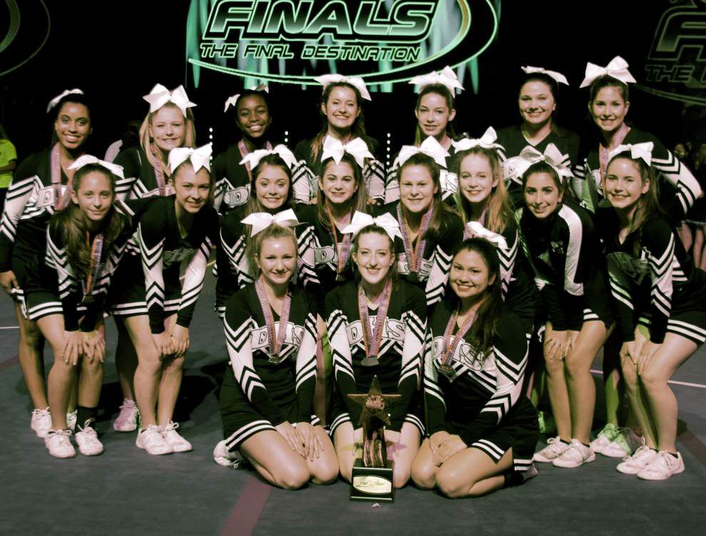 St. Mary's Dominican High School cheerleaders place third in division _lowres