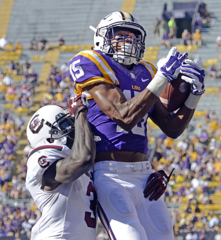 Warm welcome? LSU thrashes South Carolina 45-24, rolls up 624 yards of offense _lowres