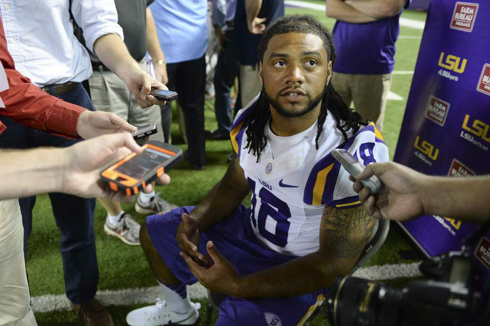 Video: LSU running back Terrence Magee is eager to see both quarterbacks play in opener _lowres