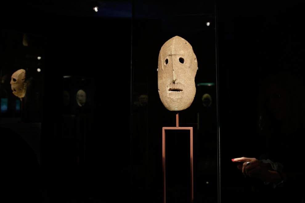 Ancient masks go on display in Jerusalem _lowres