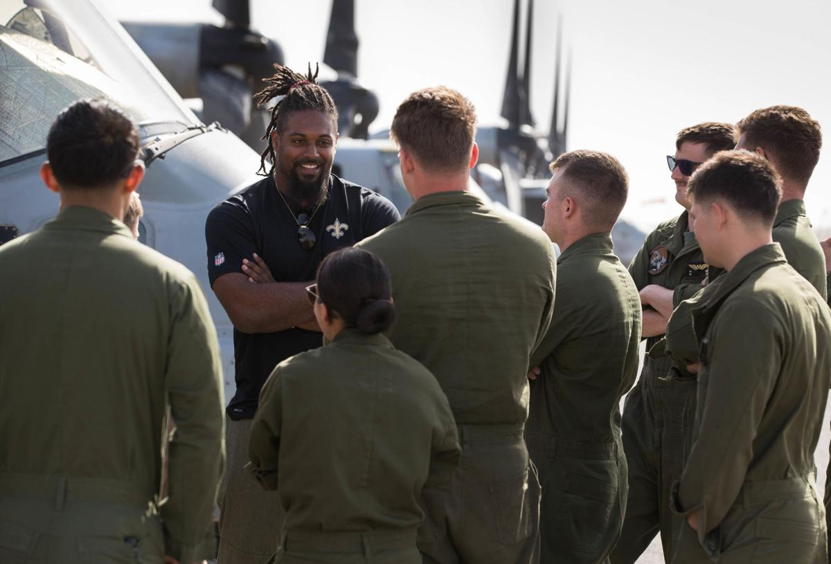 Saints Cameron Jordan makes most of his offseason with USO trip