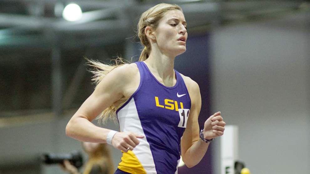 LSU 800-meter runner Morgan Schuetz quickly progresses beyond early goals _lowres
