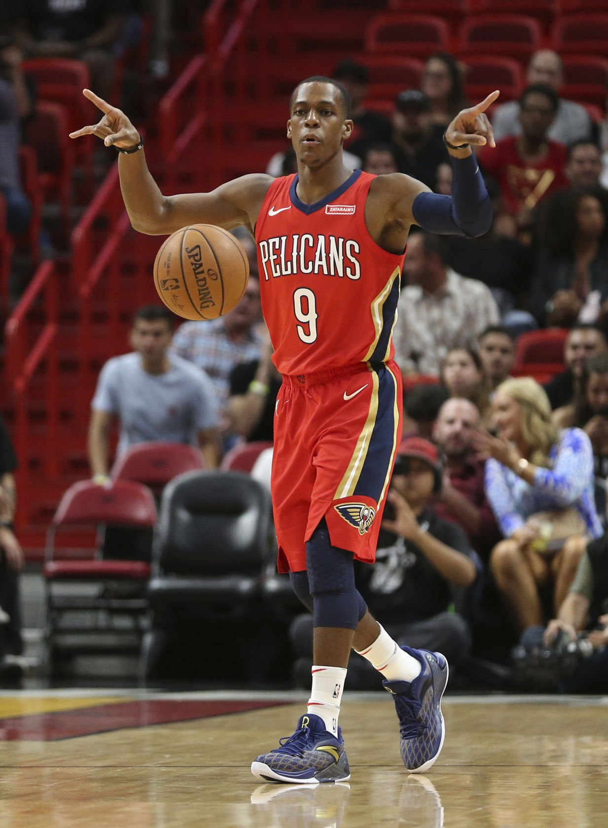 Rajon Rondo s Record breaking Assists Help Pelicans Rout Nets Sports Theadvocate com