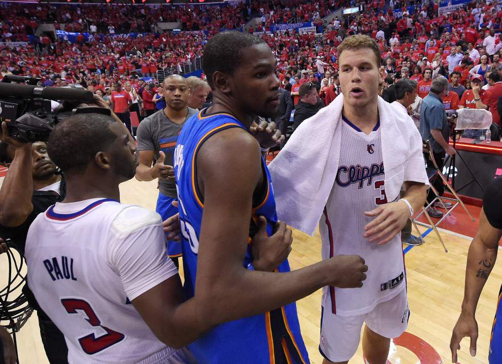 Kevin Durant's Thunder take on San Antonio after clipping L.A. _lowres