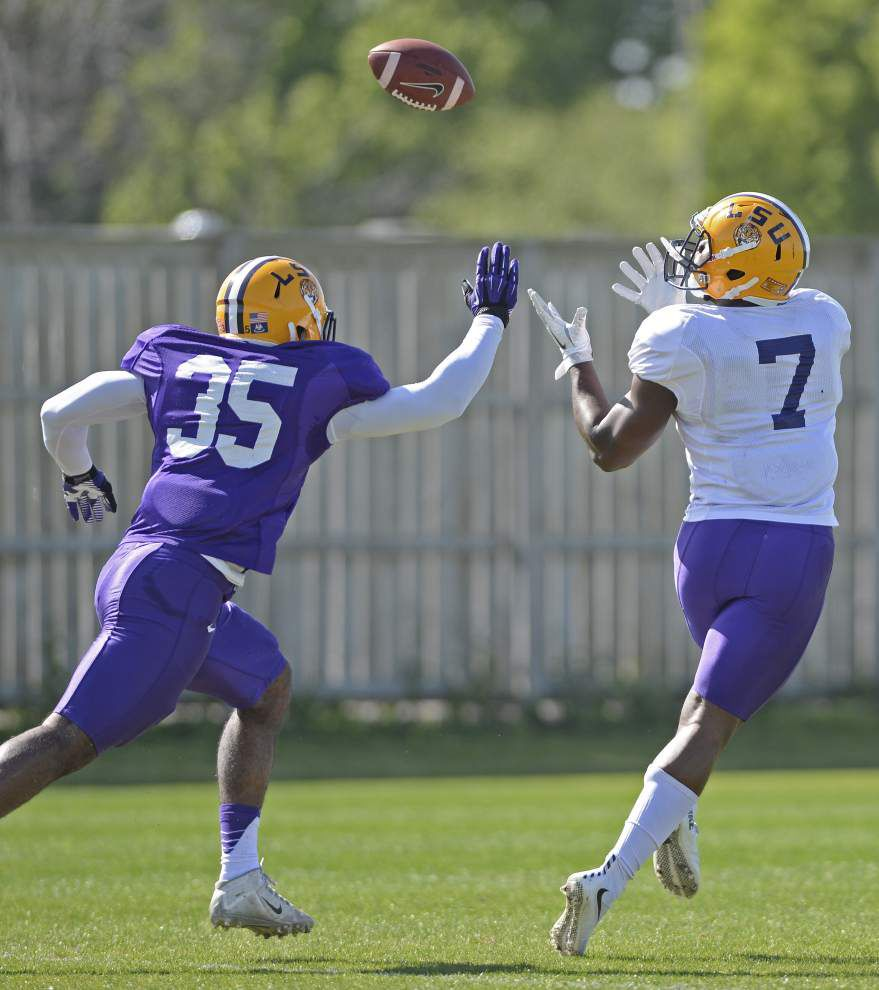 LSU's Leonard Fournette 'confused' by Dave Aranda's new defense, embracing leadership role and more _lowres