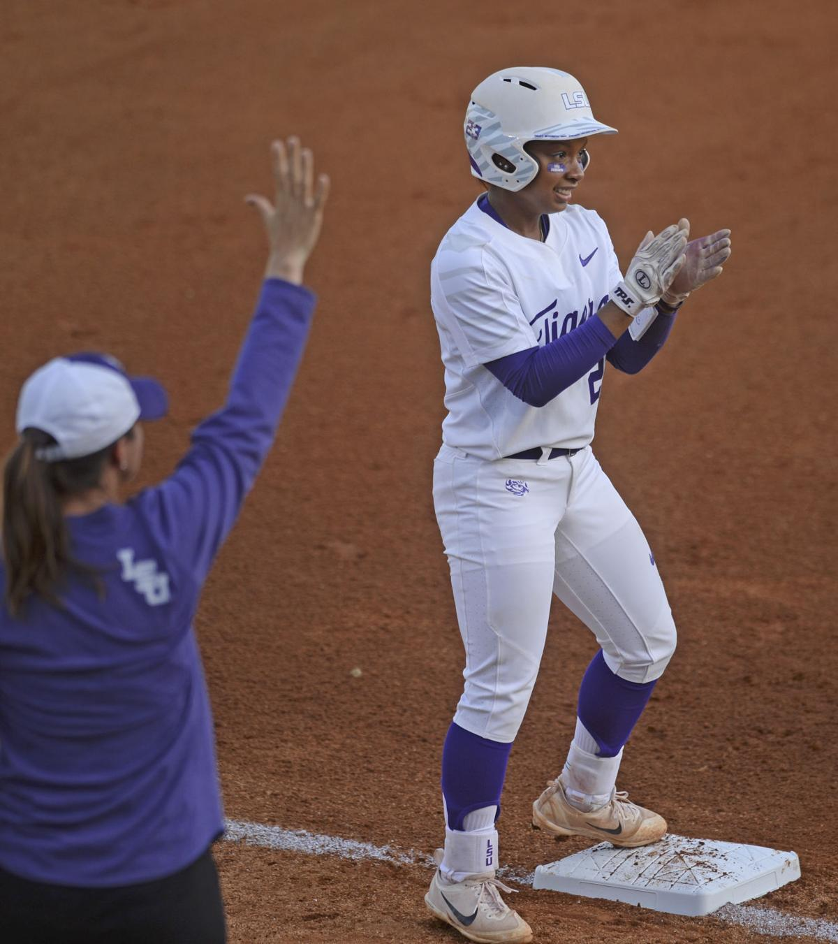 Athletics Tigers Game Suspended In 7th With A S Up 5 3: LSU Softball Survives Scare Against Fairfield, Setting Up