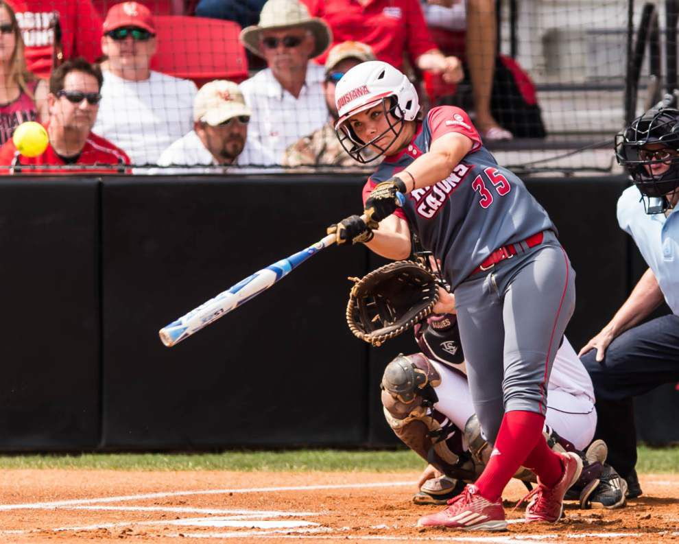 UL-Lafayette softball team's quest to Women's College World Series continues against hot Oklahoma _lowres