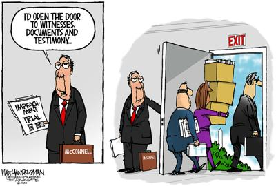 Walt Handelsman: Impeachment Door