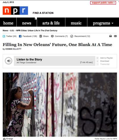 """""""New Orleans became a blank slate after Hurricane Katrina struck in 2005...""""_lowres"""
