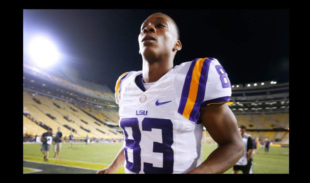 LSU receiver Travin Dural injured during car accident, status uncertain for Saturday's game _lowres
