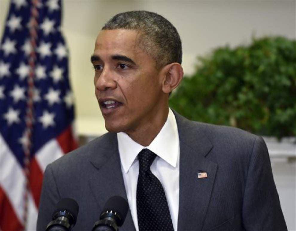 Obama urges calm after Ferguson decision _lowres