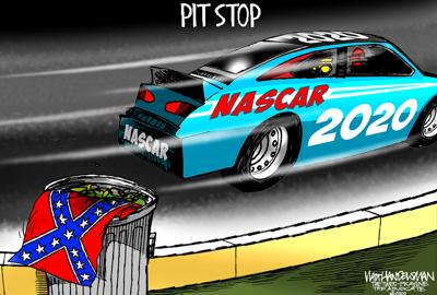 Walt Handelsman: Pit Stop