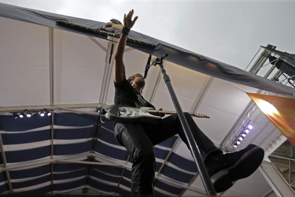 Jazz Fest stages close early due to inclement weather in New Orleans area _lowres