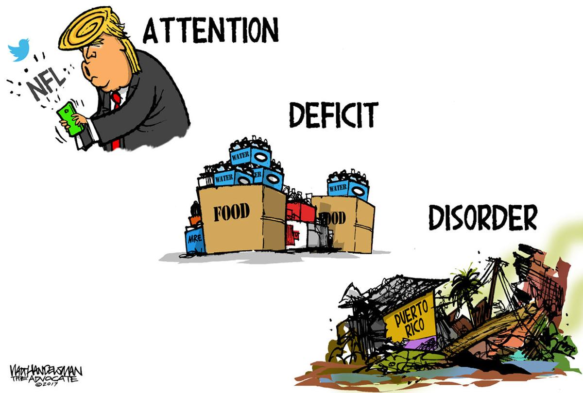 Walt Handelsman: Attention Deficit Disorder