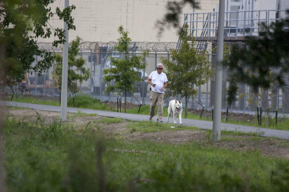 Not much shade yet, but locals enjoy long-awaited Lafitte Greenway ahead of park's official opening _lowres