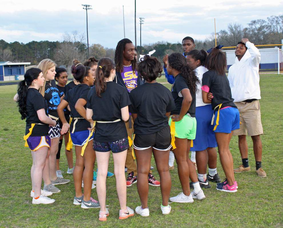 Powder puff flag football game raises funds for St. Jude _lowres