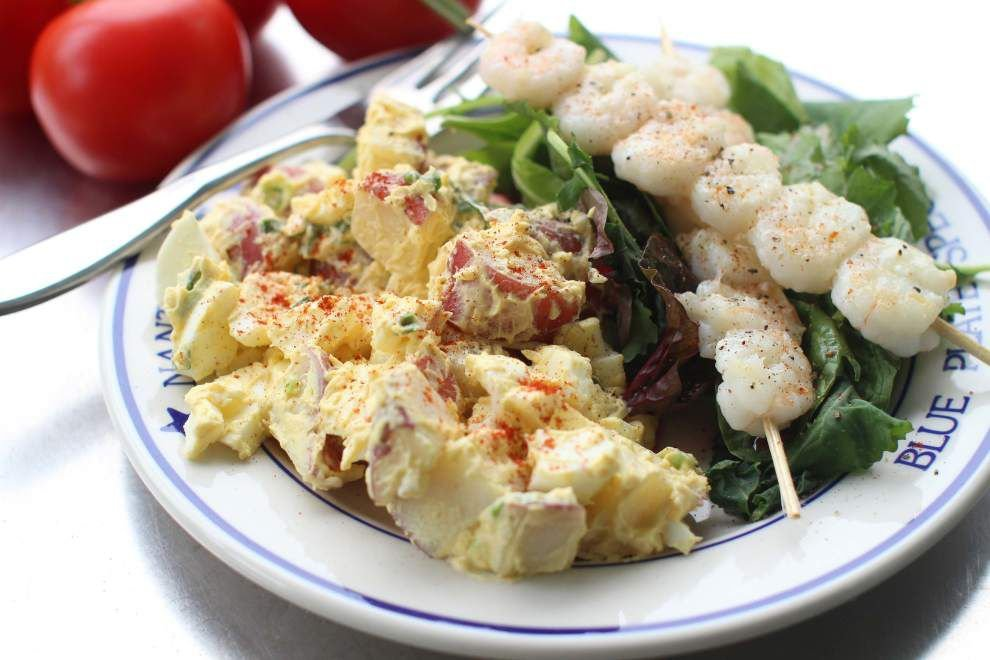 Combine deviled eggs with potato salad for delicious July 4th side _lowres