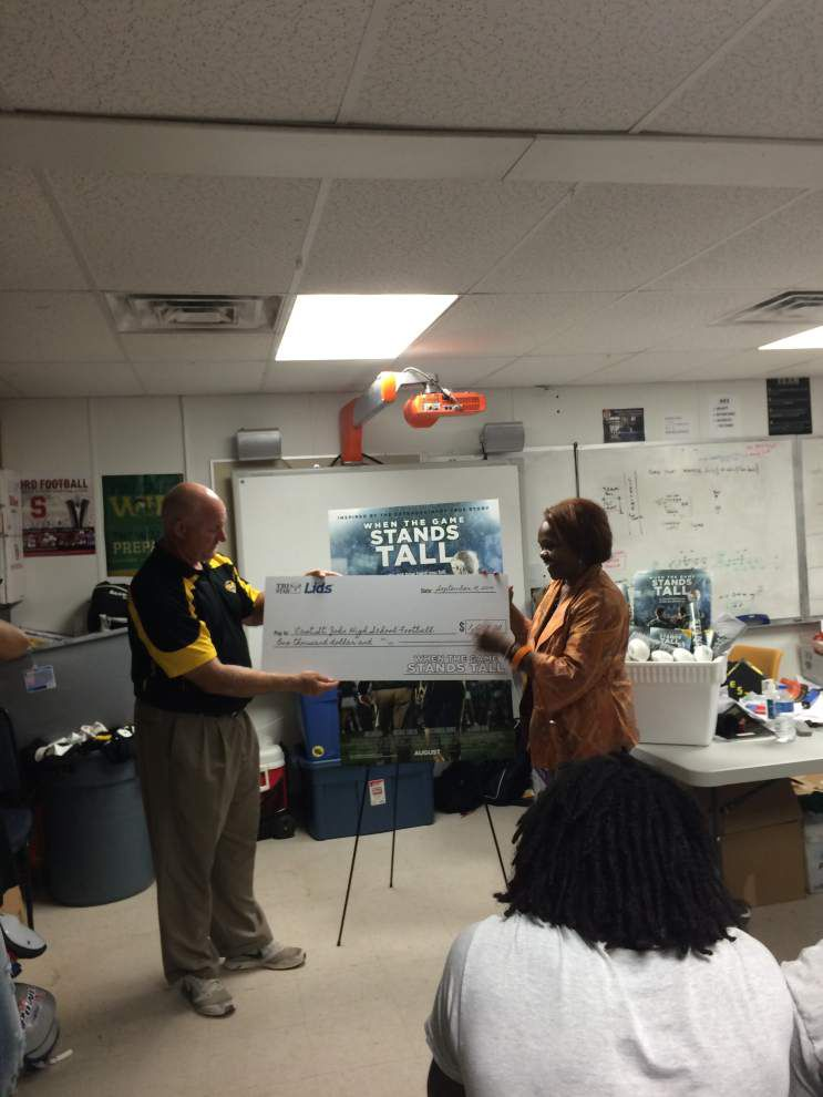 East St. John gets $1,000 donation from local film _lowres