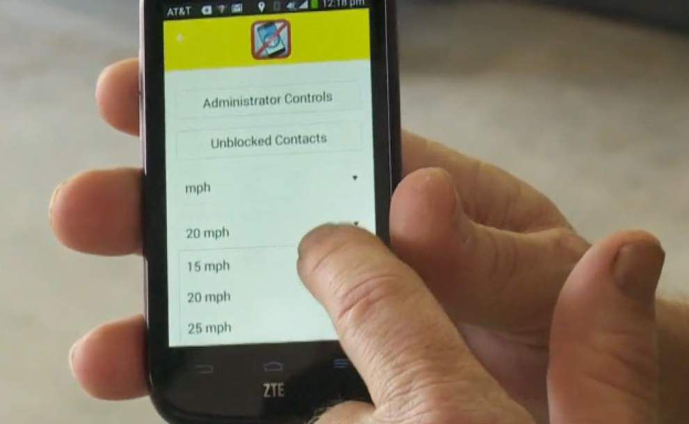 WWL-TV report: App that keeps teens from texting while driving developed right here in Louisiana _lowres