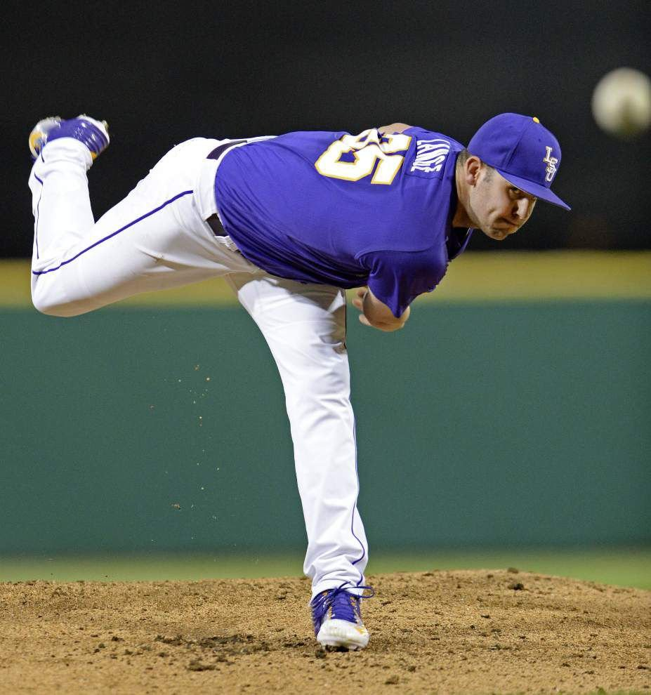 LSU baeball notebook: Starter Alex Lange is 'not pitching timid' to a powerful Coastal Carolina club _lowres