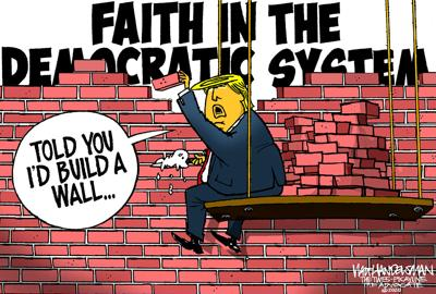 Walt Handelsman: Another Brick in the Wall