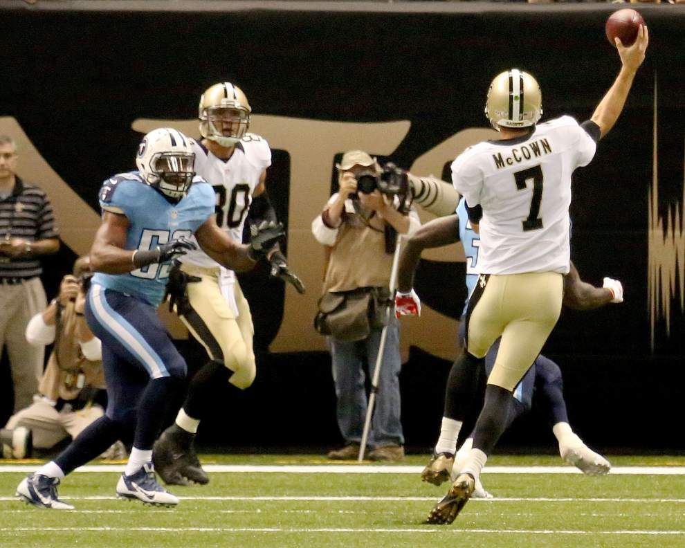 Video: Saints QB Luke McCown says healed dislocated pinkie makes difference against Titans _lowres