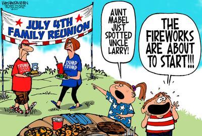 Walt Handelsman: Here come the Fireworks!