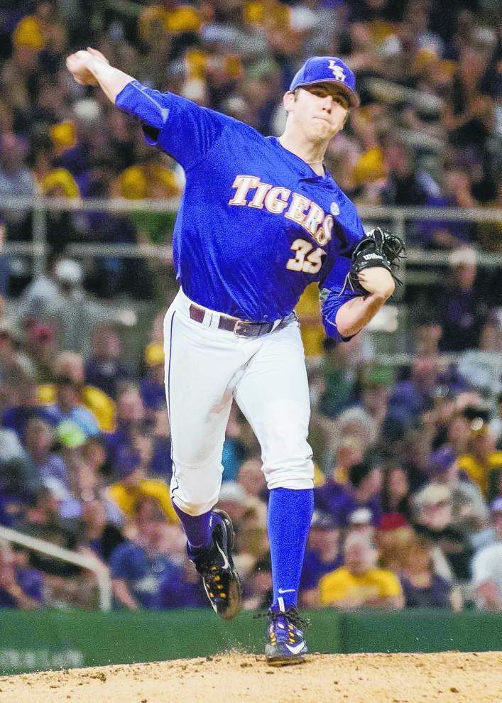 A freshman? Sure if you say so. LSU RHP Alex Lange leads rookie-heavy super regional _lowres