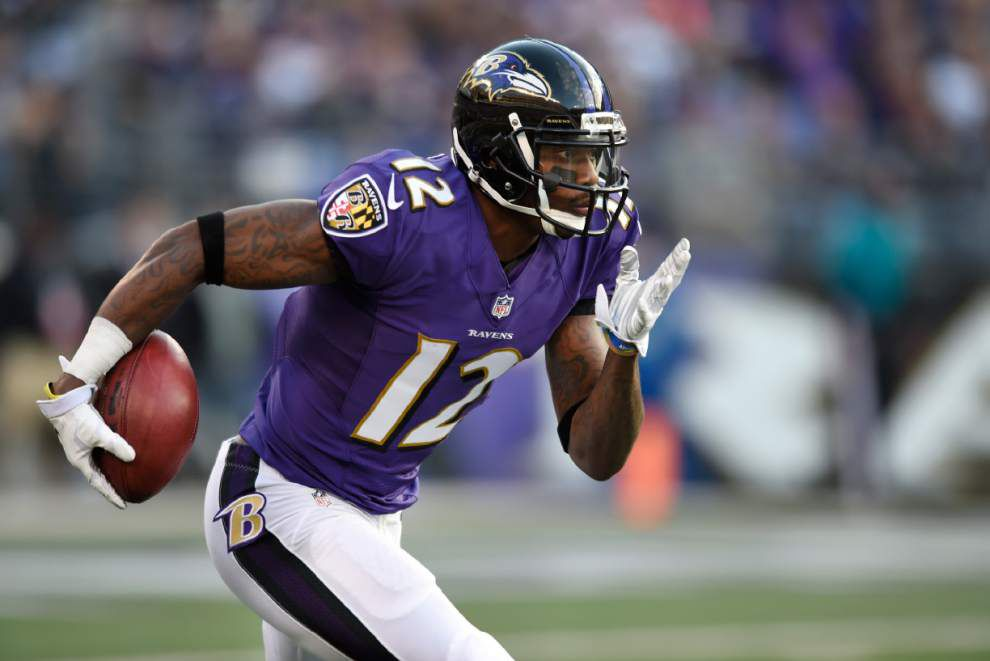 Former Super bowl hero Jacoby Jones released by the Baltimore Ravens in a salary-cap move _lowres