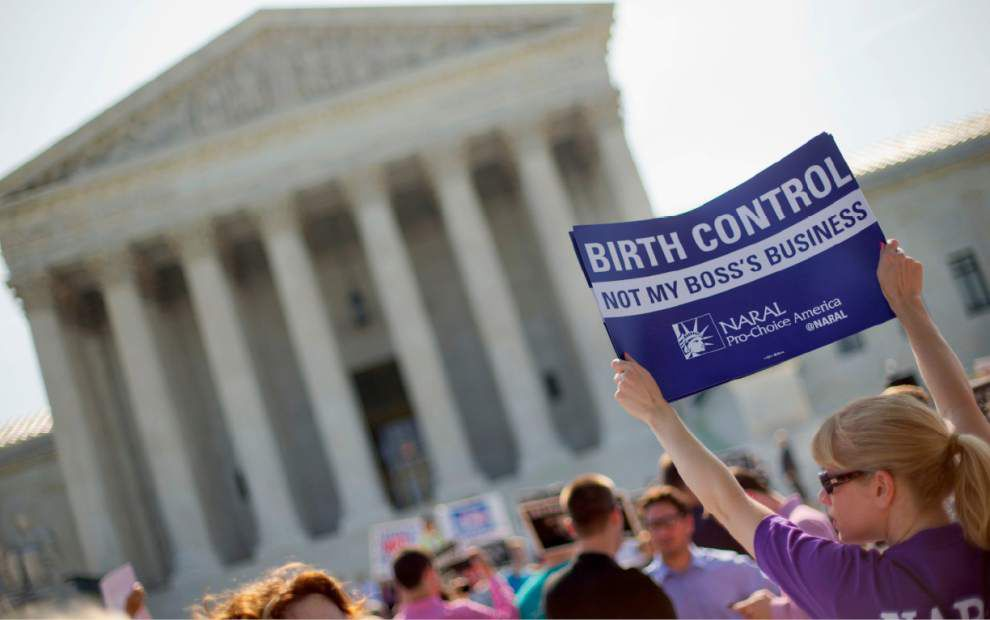 Justices: Government can't make employers with religious objections cover contraception _lowres