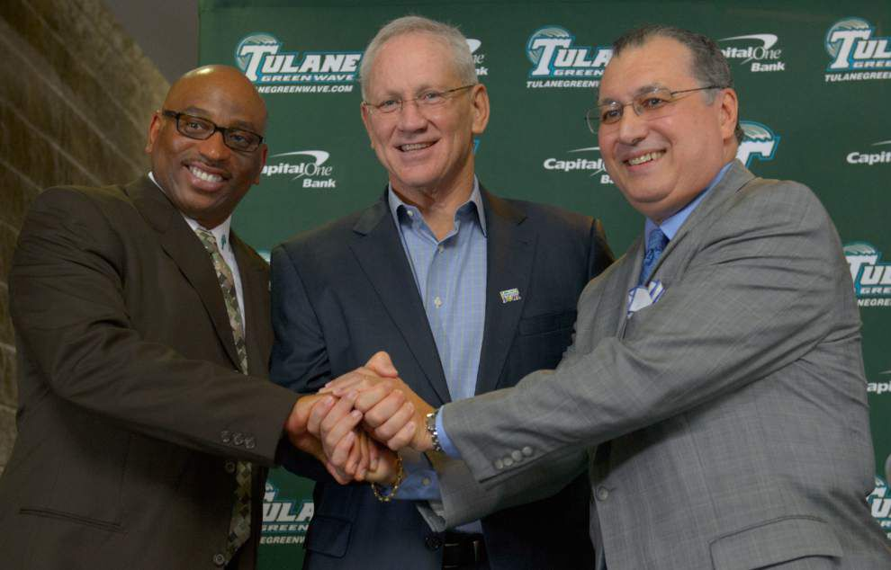 Tulane athletic director Rick Dickson announces his retirement effective May 2016 _lowres
