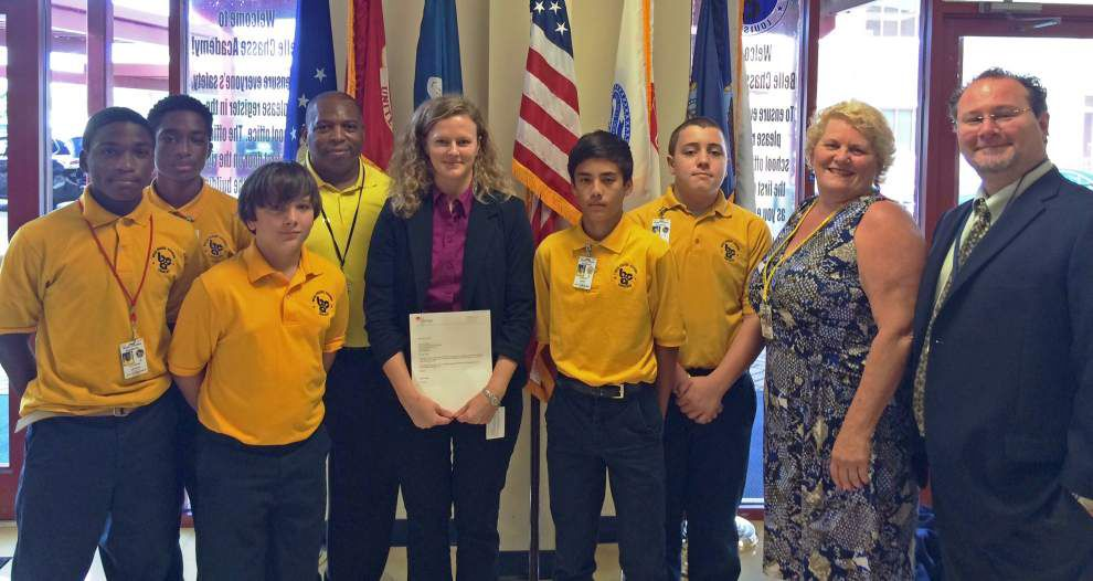 Belle Chasse Academy fishing program gets support from Entergy _lowres