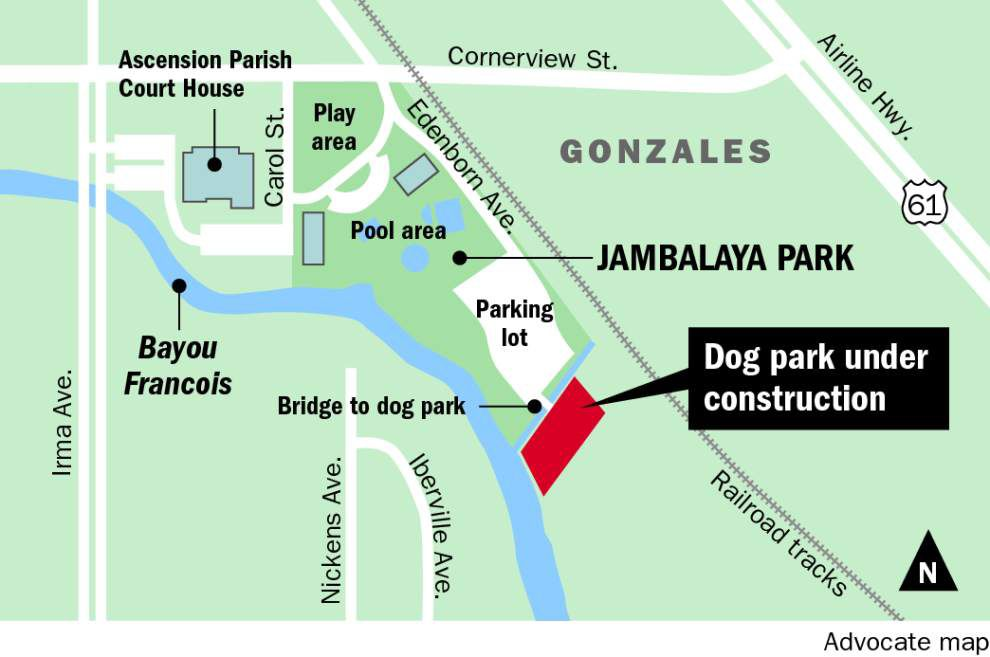 It's going to be a 'dog's life' in Gonzales: Work begins on city's first dog park set to open in spring _lowres