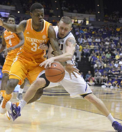 Check out where LSU men's basketball is projected in the NCAA tournament after loss to Tennessee _lowres