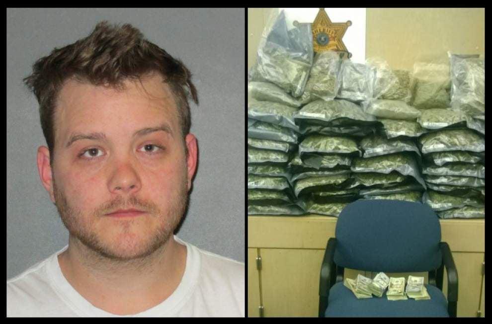 EBR Sheriff's deputies arrest man with 35 pounds of marijuana _lowres