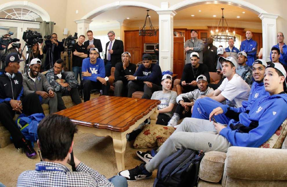 No surprise here: Kentucky is the top overall seed in the NCAA tournament _lowres