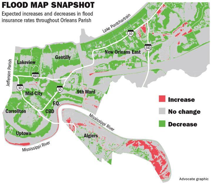 New Orleans\' revised flood maps set to slash insurance rates for ...