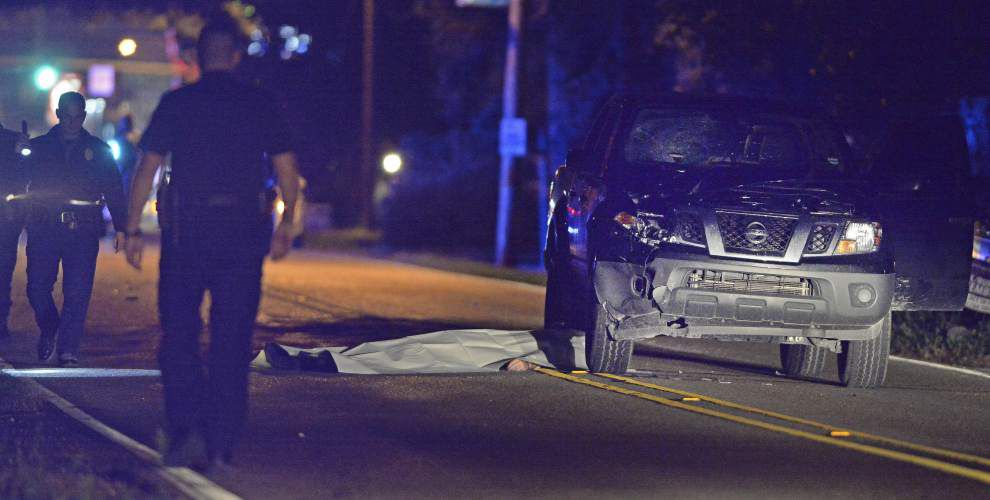 Photos: Baton Rouge police investigate scene where pedestrian was struck, killed by vehicle _lowres