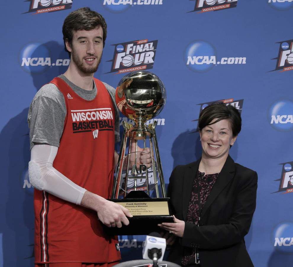 Kentucky coach John Calipari, Wisconsin standout Frank Kaminsky claim AP's top college basketball honors _lowres