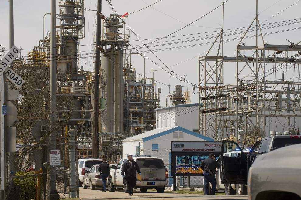 Man in custody after firing shots near ExxonMobil plant north of Baton Rouge, police say _lowres