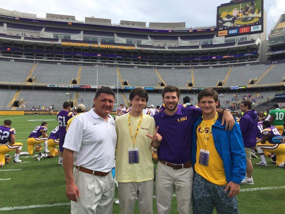 There's something special about LSU defensive line coach Ed Orgeron, his stepson Tyler _lowres