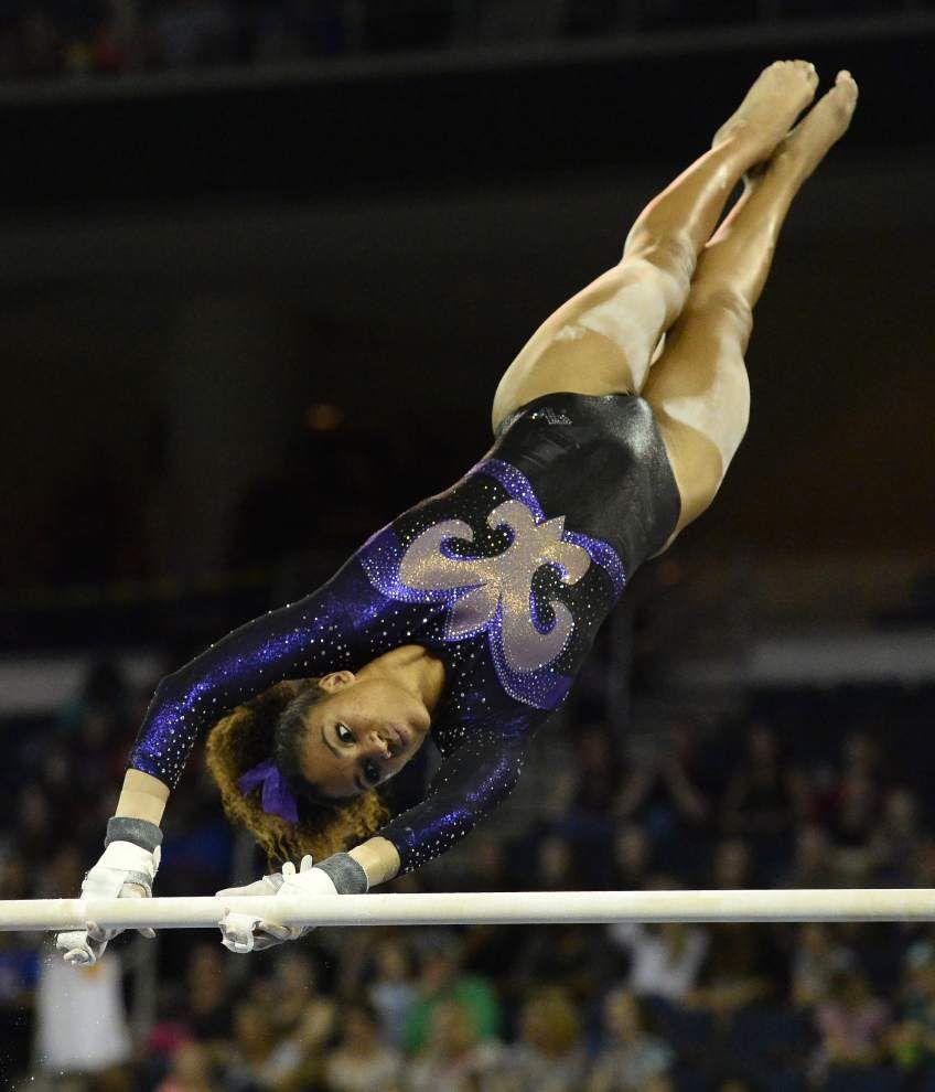 LSU gymnast Wyrick returns home to Las Vegas for meet _lowres
