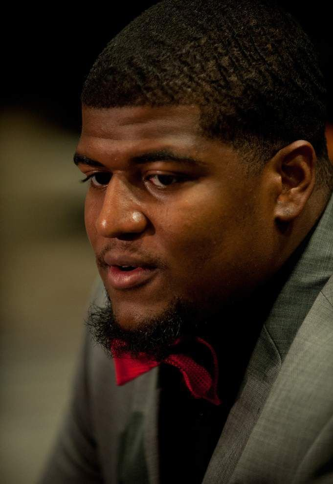 Entering his senior year, Mykhael Quave adds some beef to the Cajuns' offensive line _lowres