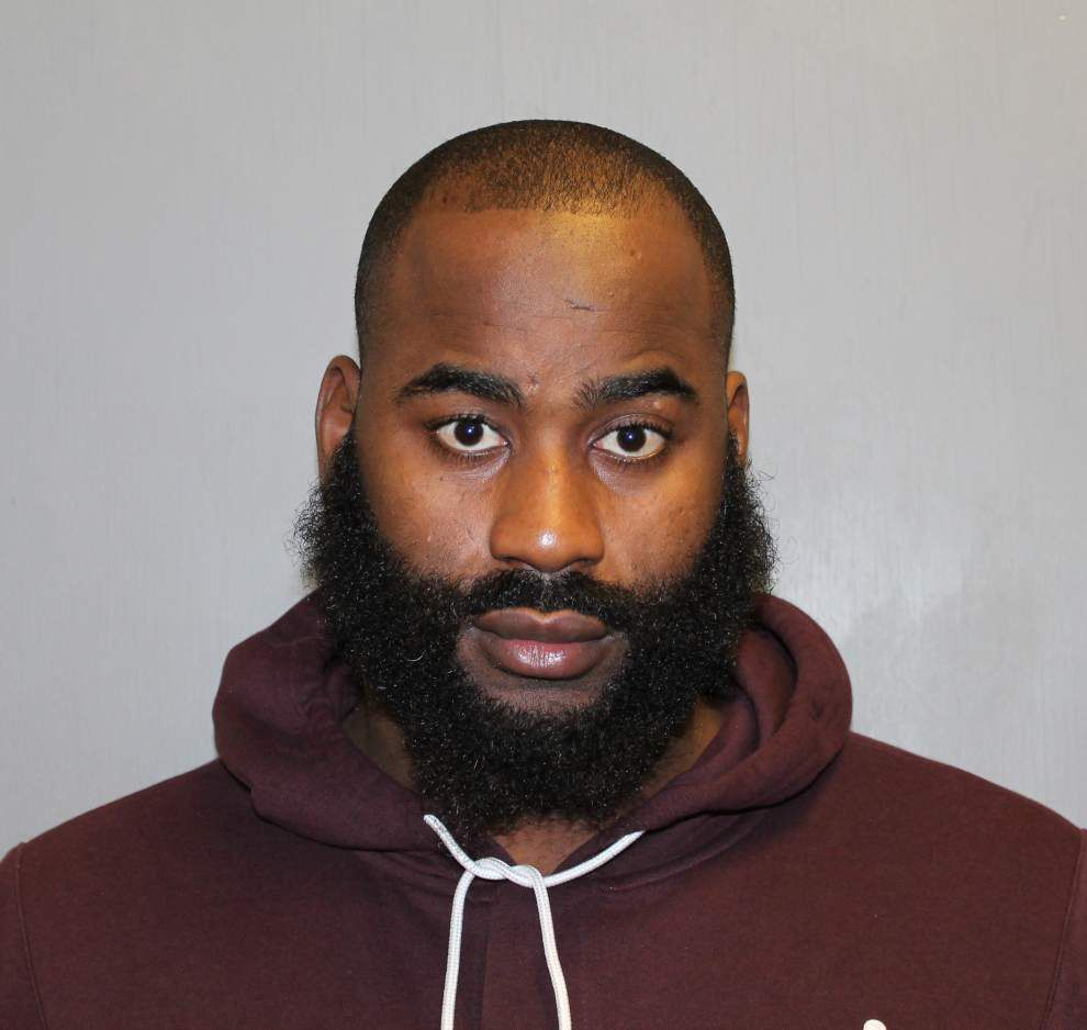 Saints' Junior Galette arrested, booked on domestic violence count _lowres