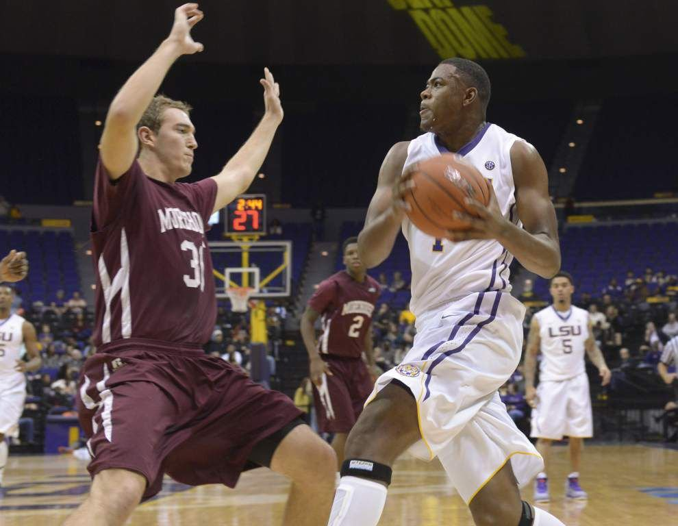 Jarell Martin, Jordan Mickey power LSU men to a 71-47 exhibition victory over Morehouse _lowres