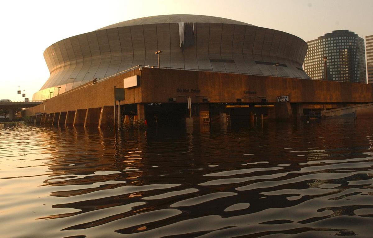 Superdome during Katrina