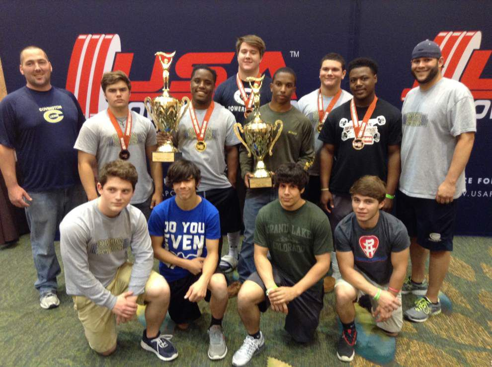 Covington powerlifters win national title _lowres