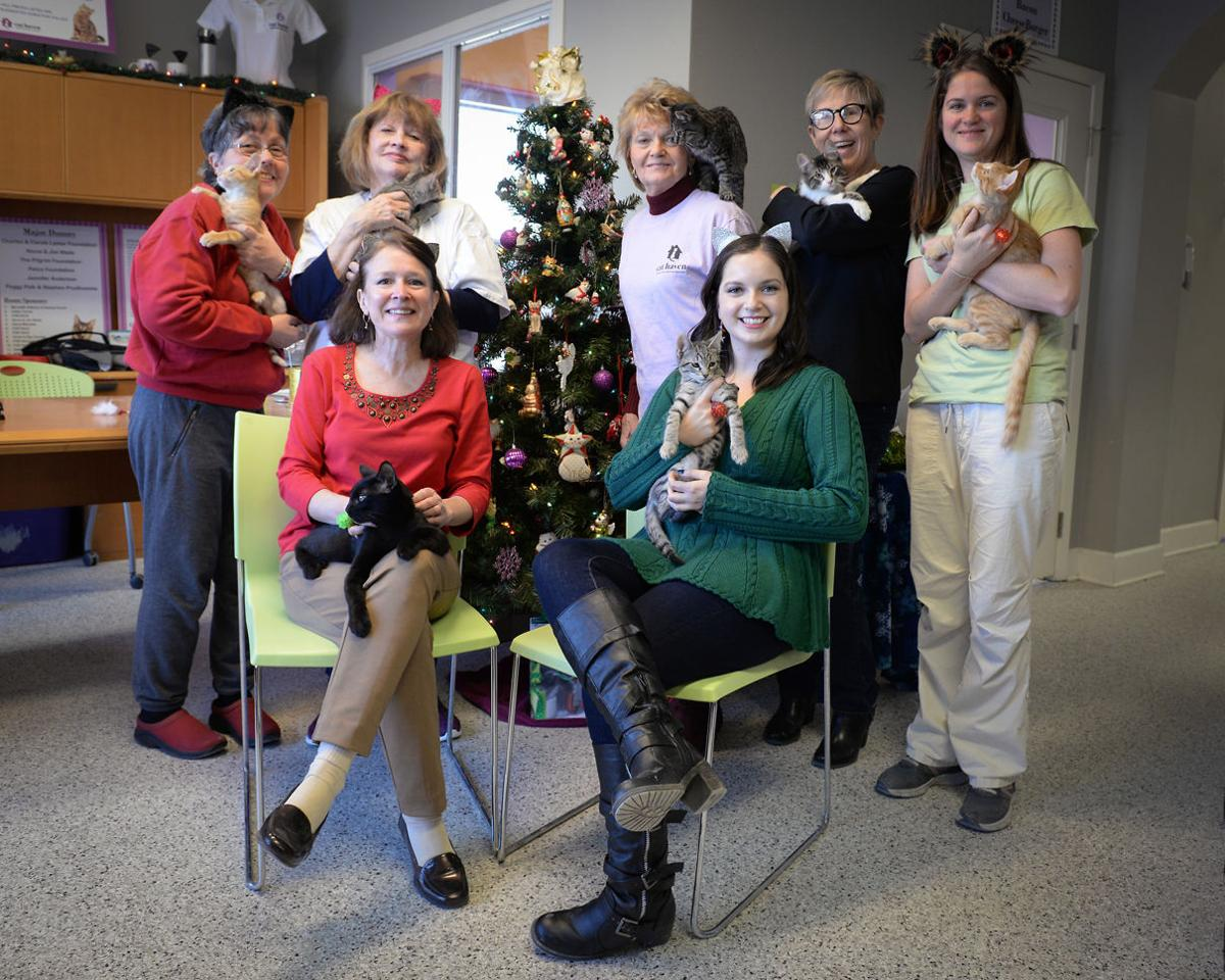 Cat Haven Staff at Meowy Christmas.jpg