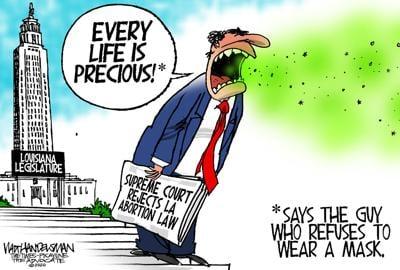 Walt Handelsman: Louisiana Legislature Logic?